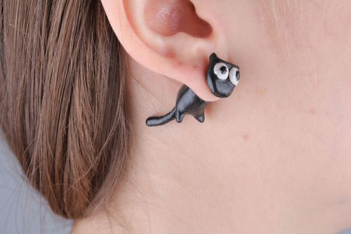 Fake ear plugs in the shape of kittens - MADEheart.com