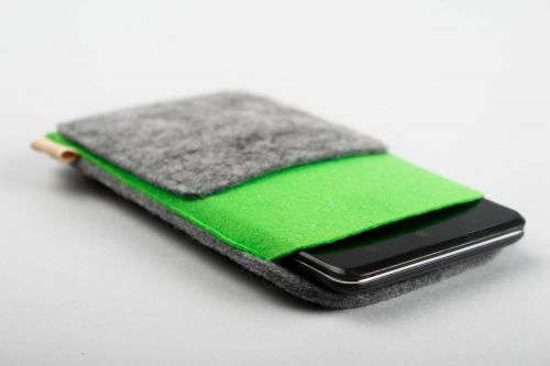Woolen phone case handmade designer phone case gadget accessories felt goods - MADEheart.com