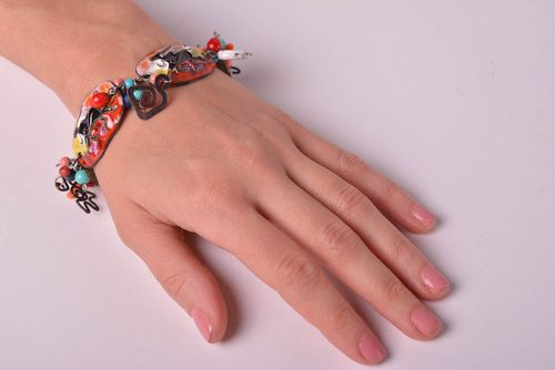 Handmade beautiful bracelet designer jewelry stylish metal accessories - MADEheart.com