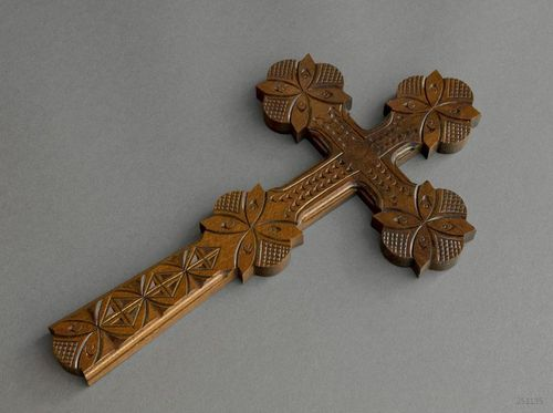 Carved wall crucifix - MADEheart.com
