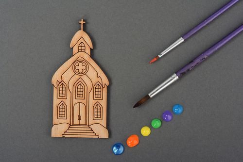 Craft blank for painting The Church House - MADEheart.com
