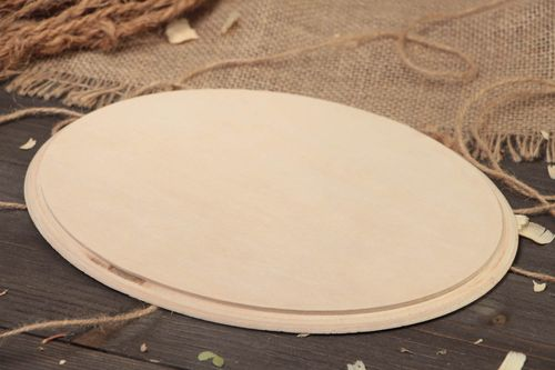 Handmade simple large round plywood craft blank for decoupage wall panel  - MADEheart.com
