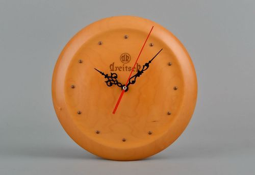 Wall clock made of the maple wood  - MADEheart.com