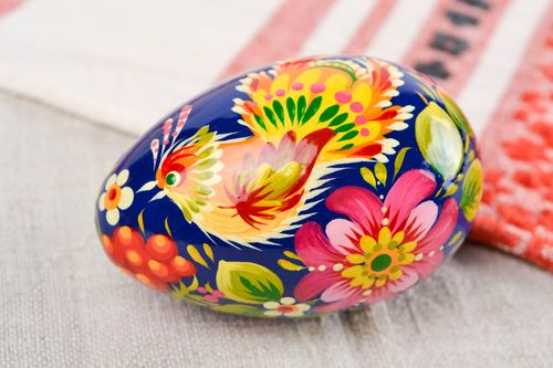 Handmade wooden Easter egg room ideas painted Easter eggs decorative use only - MADEheart.com