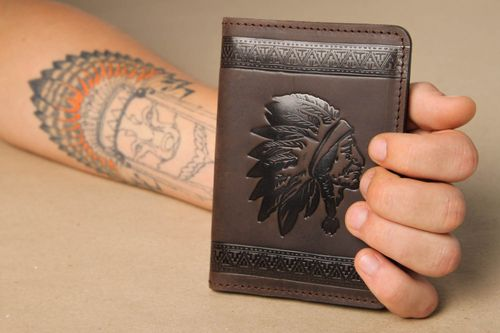 Beautiful handmade leather wallet best gifts for him fashion accessories - MADEheart.com