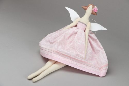 Soft toy Angel in Pink Dress - MADEheart.com