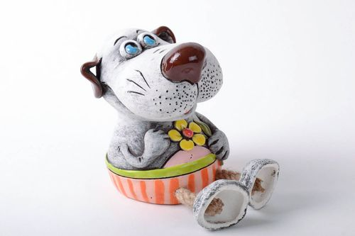 Handmade money box Dog Mongrel - MADEheart.com