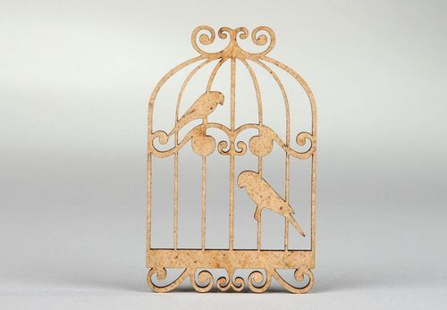 Chipboard Birdies in the cage - MADEheart.com
