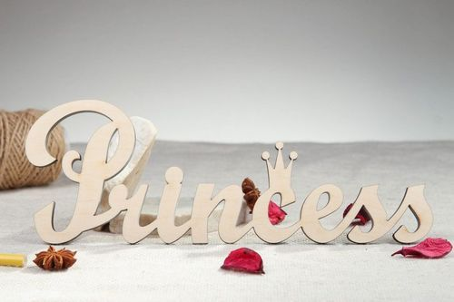 Chipboard word Princess - MADEheart.com