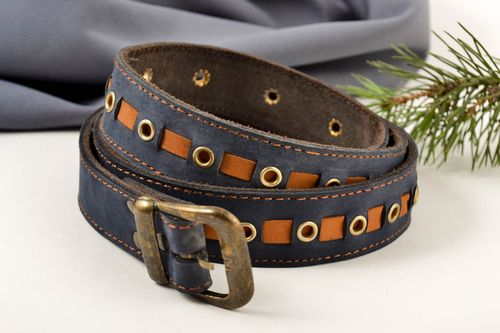 Handmade leather belt men belts leather belt for men best gifts for him - MADEheart.com