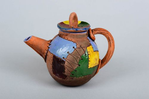 Beautiful handmade ceramic teapot collectible teapots kitchen supplies - MADEheart.com