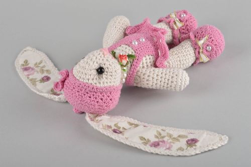 Stylish designer soft toy fashionable unusual accessories lovely handmade hare - MADEheart.com