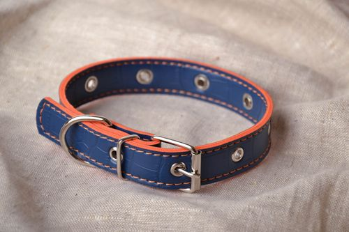 Blue dog collar - MADEheart.com