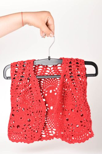 Stylish handmade crochet vest warm vest accessories for girls fashion outfits - MADEheart.com