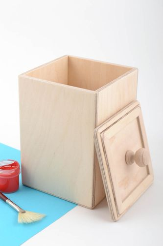 Handmade convenient plywood blank box for dry goods craft supplies - MADEheart.com
