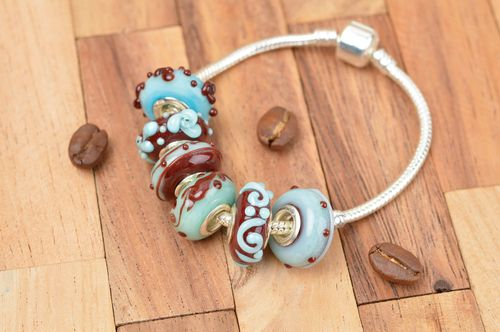 Handmade fashion bracelet glass bead bracelet glass jewelry fashion accessories - MADEheart.com
