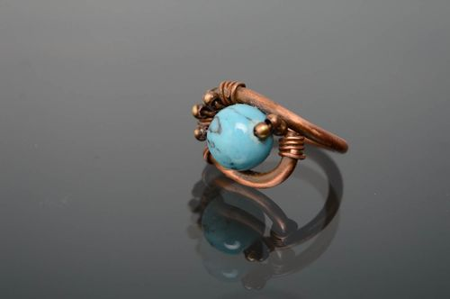 Scarf ring clip with turquoise - MADEheart.com