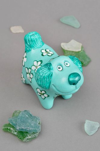 Handmade designer ceramic souvenir stylish dog toy penny whistle made of clay - MADEheart.com