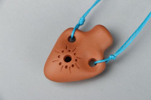 Ceramic whistle pendant - MADEheart.com