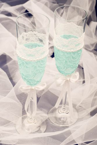 Handmade wedding glasses 2 decorative wine glasses wedding decor wedding gifts - MADEheart.com