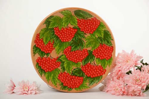 Beautiful handmade decorative wooden wall plate panel with painting  - MADEheart.com