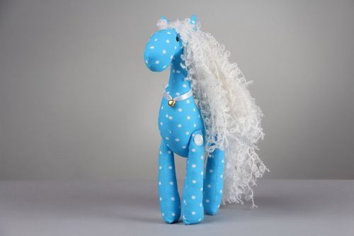 Toy Blue horse - MADEheart.com