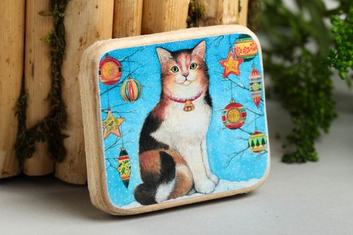 Handmade decorations wooden fridge magnet for decorative use only cool gifts - MADEheart.com