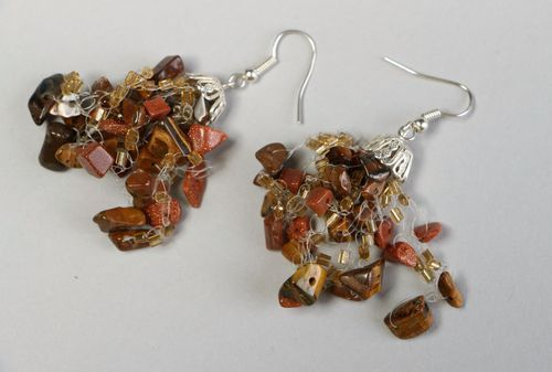 Earrings with natural stones - MADEheart.com