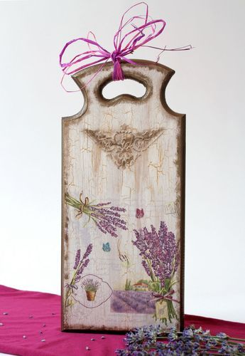Decorative cutting board with lavender - MADEheart.com