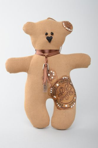 Interior hanging soft toy Coffee Bear - MADEheart.com