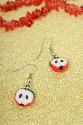 Stylish handmade plastic earrings polymer clay ideas accessories for girls - MADEheart.com
