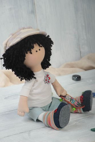 Unusual handcrafted rag doll childrens toy interior decorating gift ideas - MADEheart.com