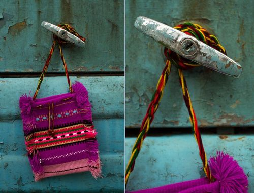 Fabric purse in ethnic style - MADEheart.com