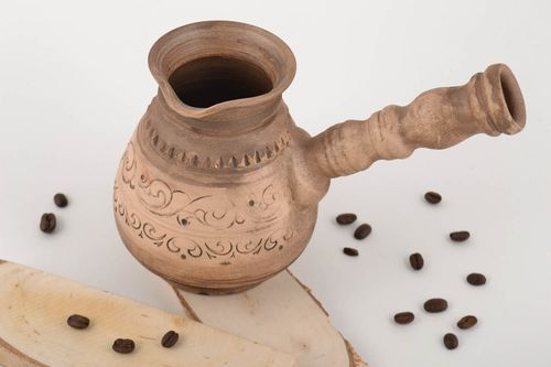 Beautiful homemade designer ceramic cezve for brewing coffee 500 ml - MADEheart.com