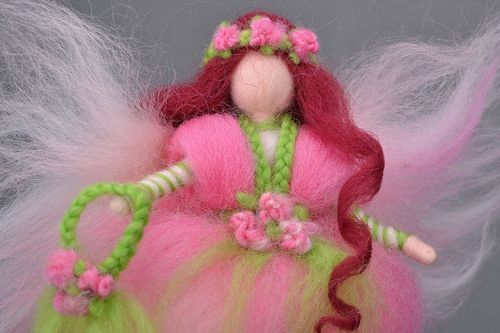 Fay doll Spring made of felt wool - MADEheart.com