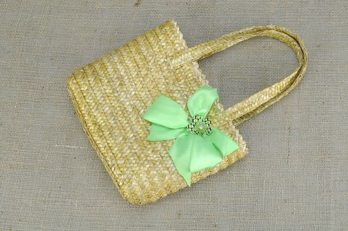 Rectangular straw bag - MADEheart.com