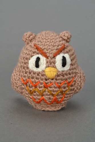 Crocheted toy Owl - MADEheart.com