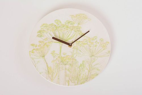 Handmade clock designr clock wall clock decor ideas wall design unusual gift - MADEheart.com