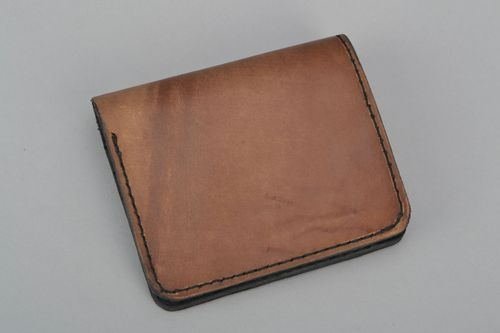 Genuine leather wallet Brown - MADEheart.com