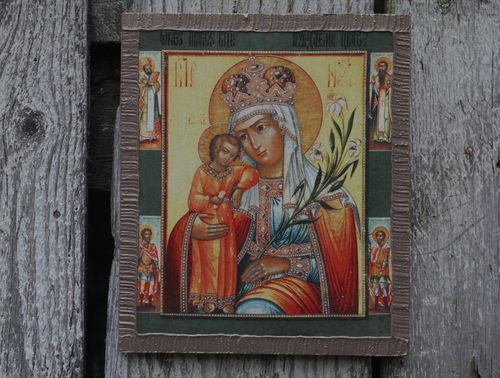 Icon Holy Mother Fadeless Color - MADEheart.com