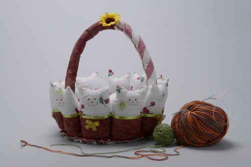 Soft table basket Cats - MADEheart.com