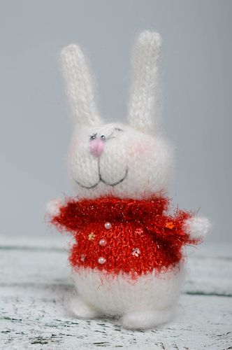 Designer knitted toy Hare - MADEheart.com