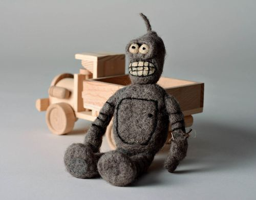 Decorative woolen toy Robot - MADEheart.com