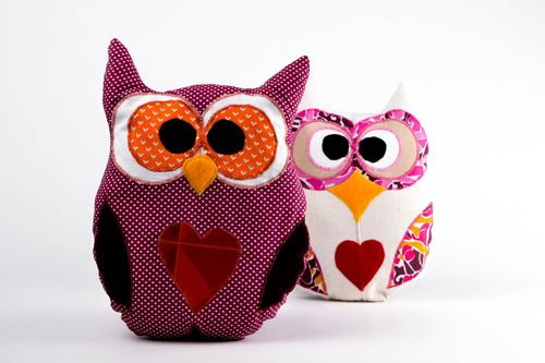 Handmade cute soft toy unusual interior pillow bright textile toy for kids - MADEheart.com