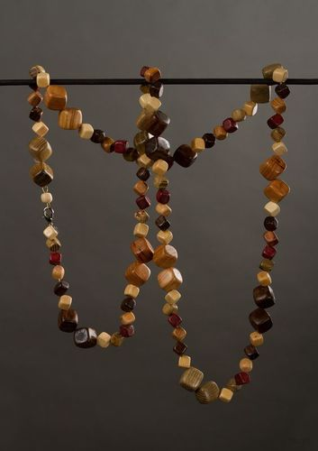 Wooden ethnic beaded necklace - MADEheart.com