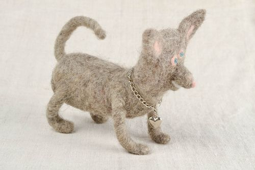 Dog toy handmade home decor felt toy animal figurine nursery decorating ideas - MADEheart.com