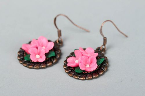 Earrings Made of Polymer Clay - MADEheart.com