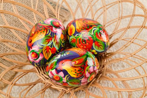 Handmade wooden Easter eggs Easter egg Easter decor decorative use only - MADEheart.com