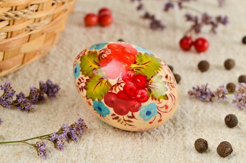 Handmade wooden easter egg painted Easter eggs Easter decor decorative use only - MADEheart.com
