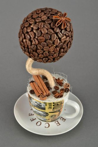 Coffee topiary in a cup - MADEheart.com